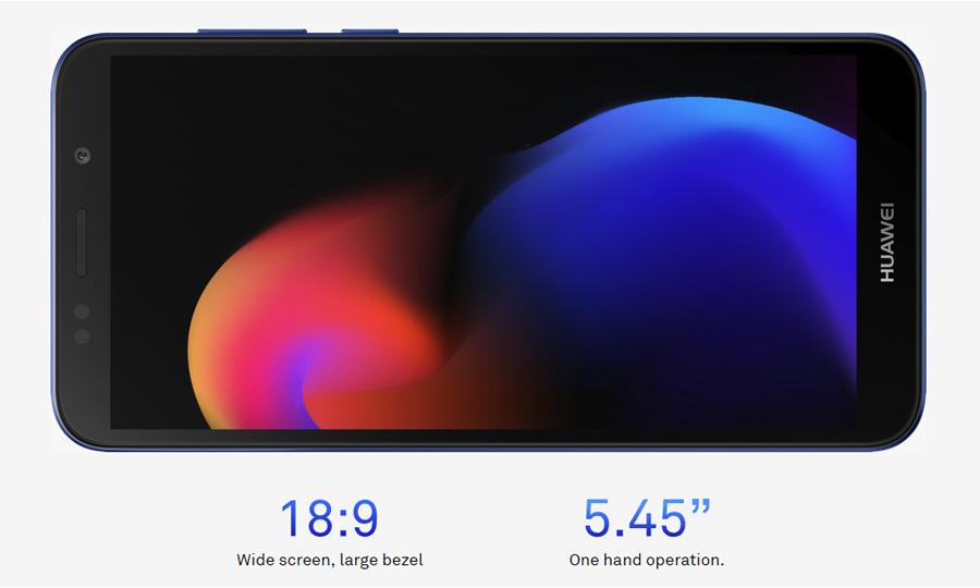 5.45-inch 18:9 screen
