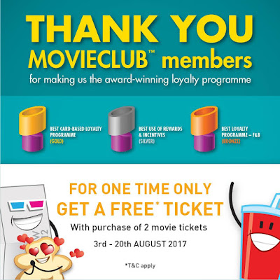 TGV Cinemas Movieclub Member Buy 2 Free 1 Movie Ticket Promo