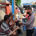 Ops Yustisi Polsek Rajagaluh Ajak Protokol Kesehatan Bagikan Masker Gratis Di Pasar Rajagaluh