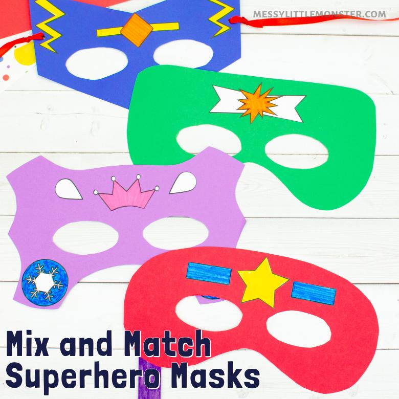 printable superhero mask templates