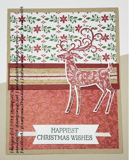 Easy Handmade Holiday Card Using Stampin' Up! Dashing Deer Stamp Set