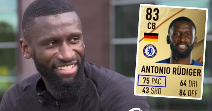 '35,8 km/h top speed on the pitch and only 75 pace?!': Rudiger reacts to his FIFA 22 rating