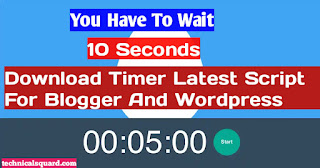 Add A Responsive Download Timer For Your Blog And Wordpress Site |