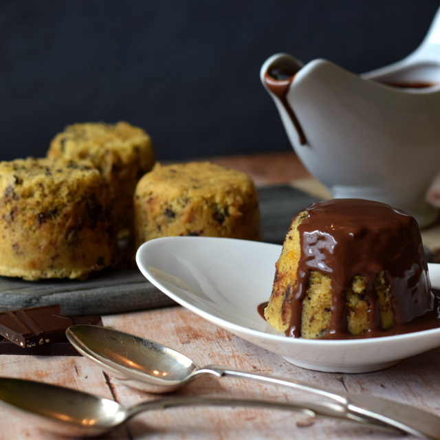 How to make a steamed pudding flavoured with the popular chocolate orange combo.