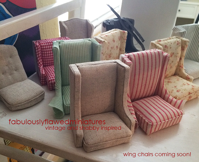 Miniature Dollhouse Wing Chairs Coming To Fabulouslyflawedminiatures