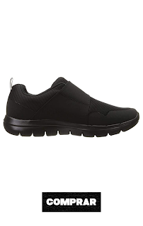 Zapatillas con Velcro Hombre color negra deportiva Skechers 52183,