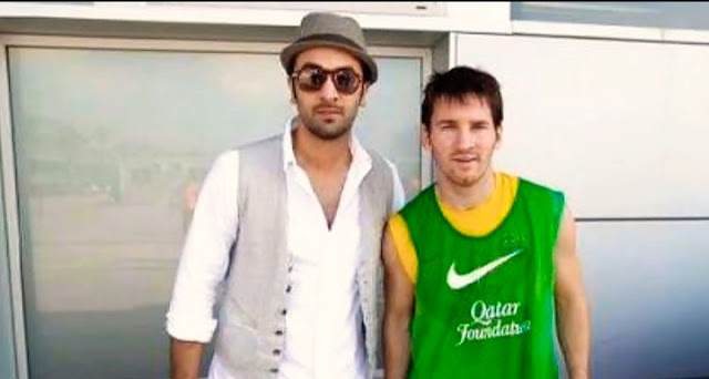 Lionel messi with Ranvir Kapoor