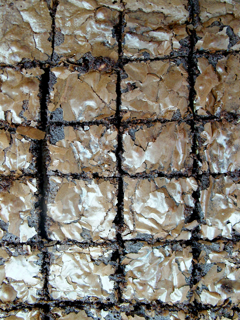 Milk, white and dark chocolate brownies - Brownie aux chocolats noir, blanc et lait