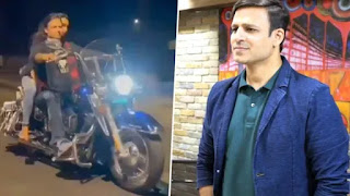 FIR-filed-on-Vivek-Oberoi-as-he-rides-bike-without-helmet-and-mask-on-valentine-day