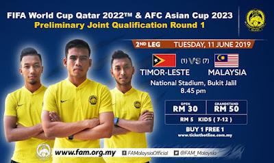 Live Streaming Timor Leste vs Malaysia 11.6.2019