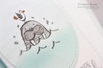 Stampinup; Sommerkarten; Workshops; Walross; Stempel-Biene; Stempelnddurchsjahr; Geburtstagskarte basteln