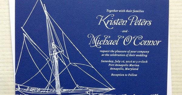 Sailboat Wedding Invitations: Stationery And Invitations: Yacht