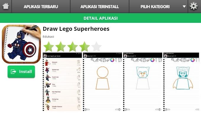 Menggambar Lego Super Hero Dengan Aplikasi Anak Cerdas