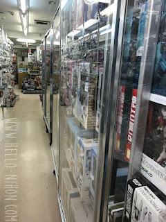 Inside a shop in Akihabara