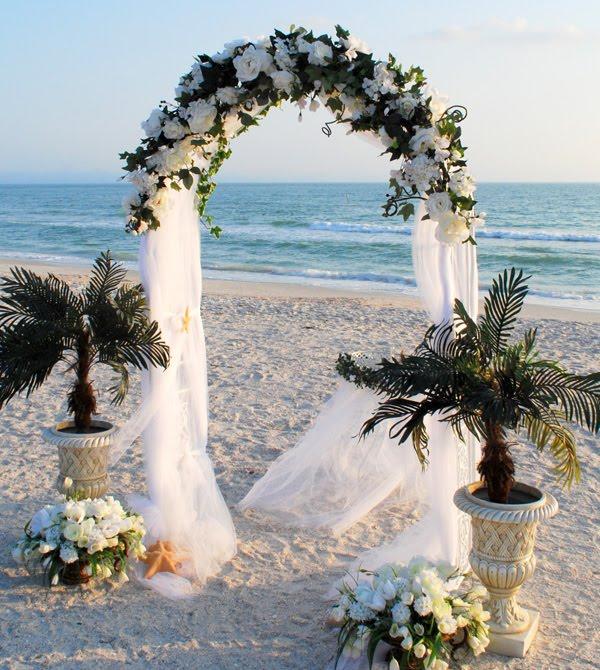Wedding Arches With Flowers: Silk Wedding Flower Arrangements