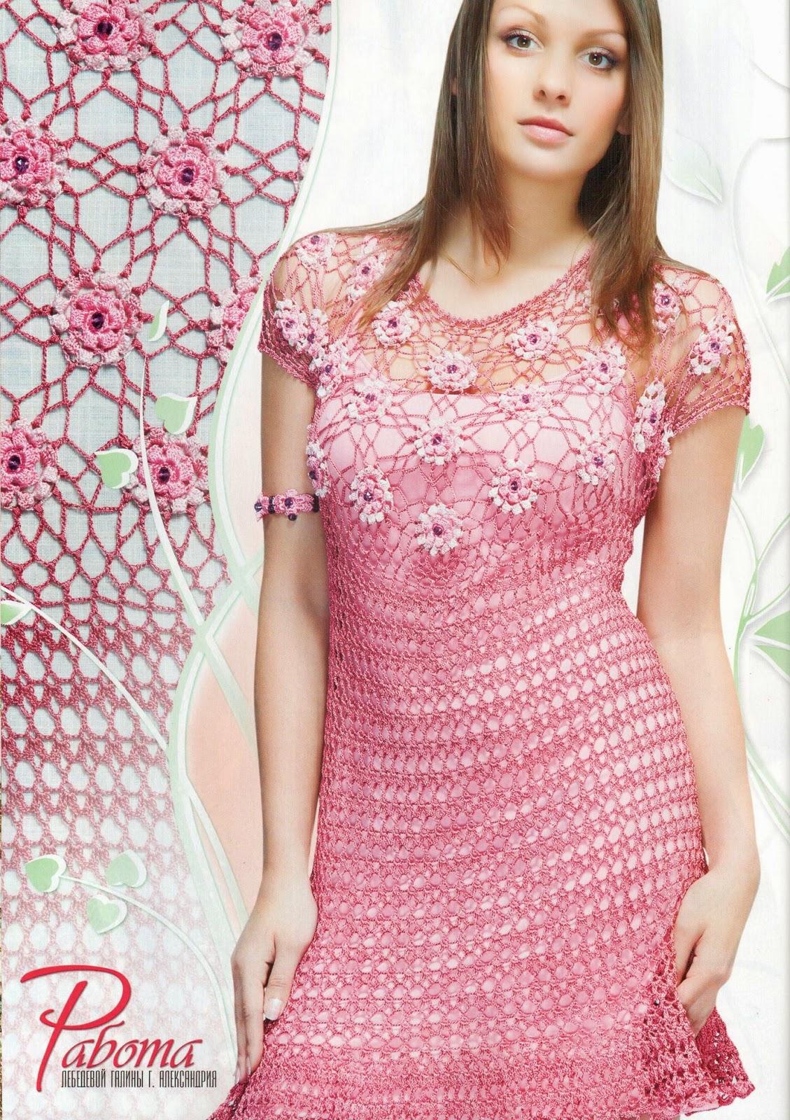 TRICO y CROCHET-madona-mía  Vestidos para mujeres a Crochet Ruso modelos  algunos con Gráficos 6f863081e45c