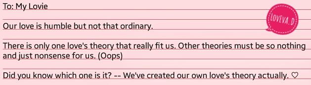 Cinta kita bukan cinta biasa, karena kita memang luar biasa. :D