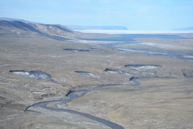 Widespread permafrost degradation seen in high Arctic terrain