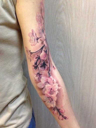 Esta bela floração ramo