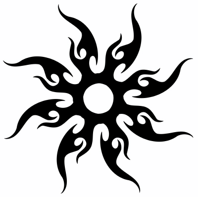Brainsy Heart Beautiful Sun Tattoo