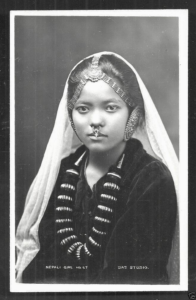 Portraits of Nepali Girls - Vintage Photographs, Early 20th Century