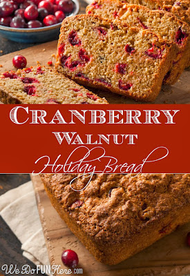 cranberry walnut holiday bread