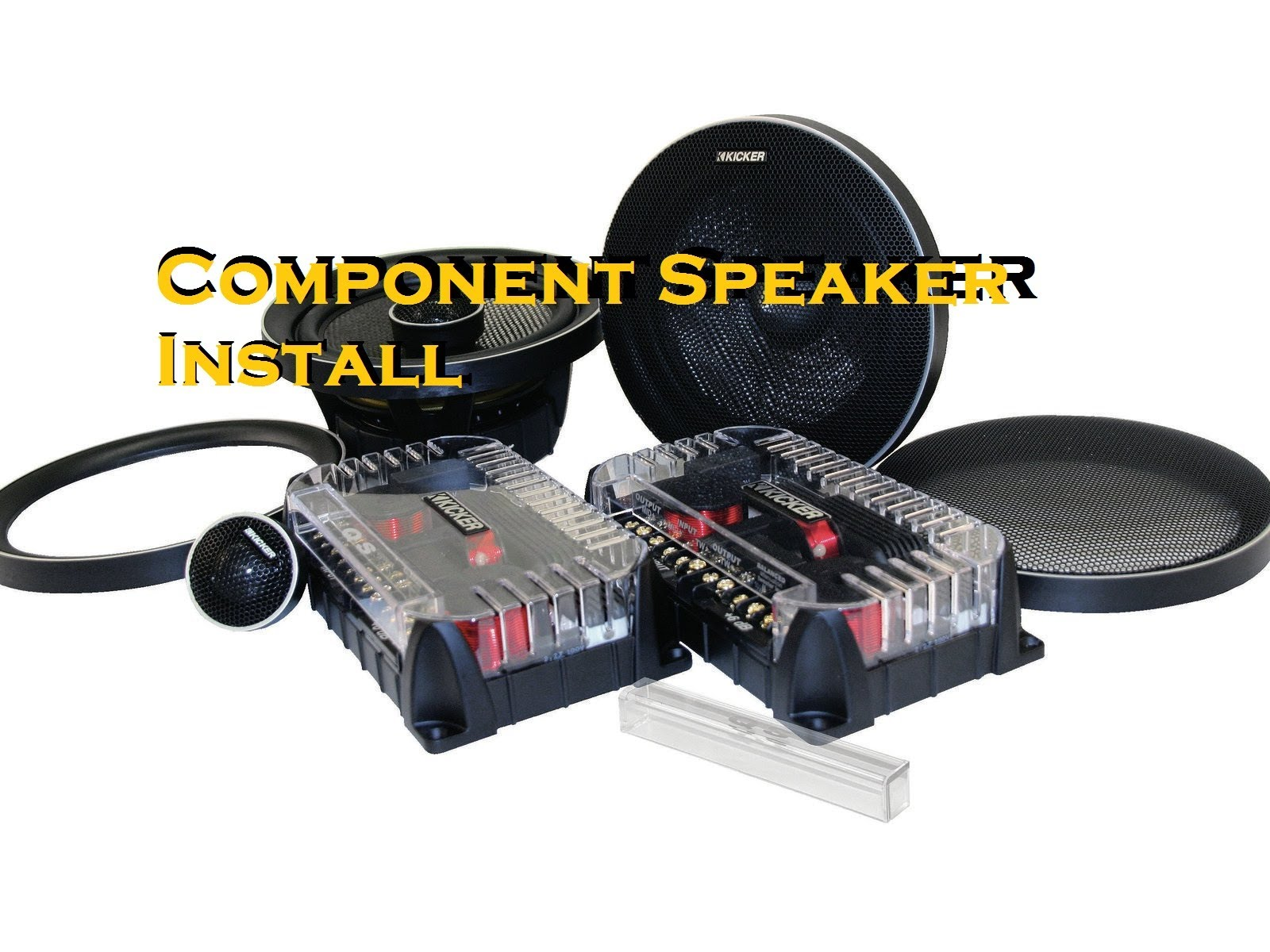 How To Install Car Component Speakers With A Crossover Box Amp Wiring Audio Mid Range Installing Into Your Will Require You Small This Allows Separate Frequencies Be Sent The Midrange