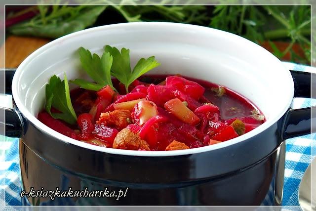 najlepszy domowy barszcz czerwony z botwinką i warzywami