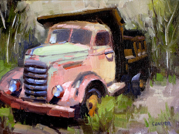 James Coulter Pink Dump Truck