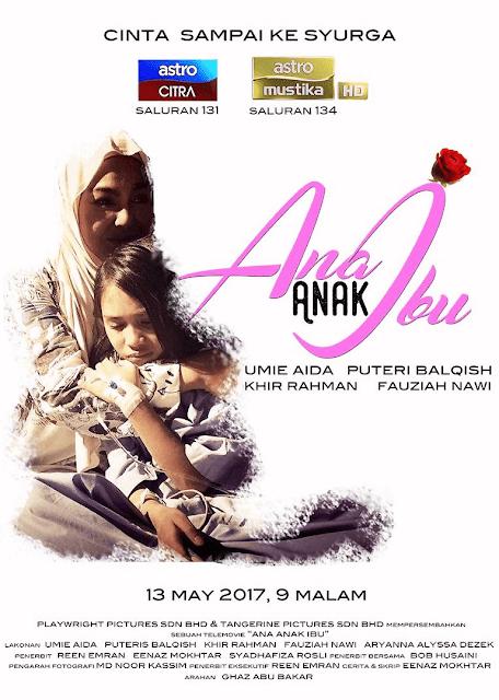 Telemovie Anak- Anak Ibu Lakonan Umie Aida, Puteri Balqis