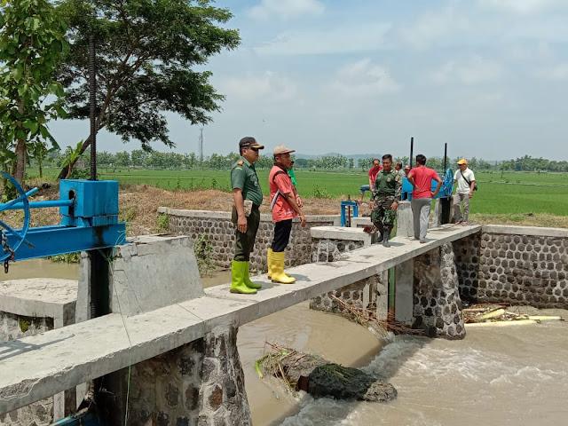 Danramil Cawas Cek Dam Blabor Antisipasi Banjir dan Tanggul Jebol