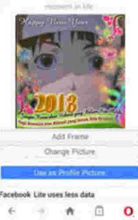 mengedit foto tahun baru DP BBM, Line, Twitter, Instagram dengan bingkai happy new year