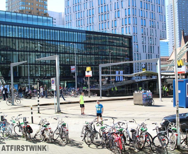Rotterdam marathon blaak metro station Netherlands