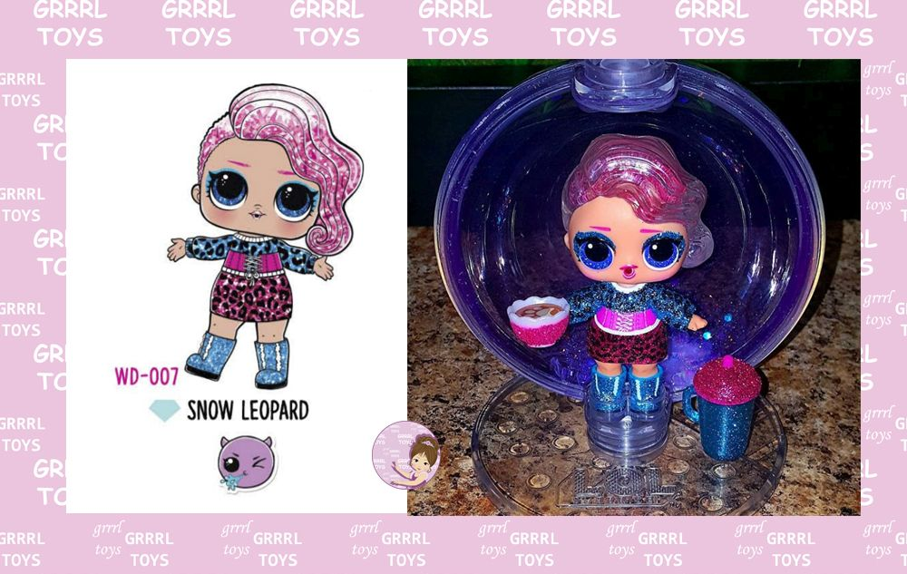 Snow Leopard Glitter Globe series 007 Christmas doll 2019 Winter Disco collection