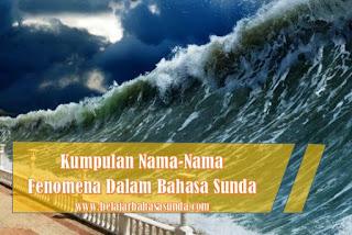 Fenomena alam Dalam Bahasa Sunda