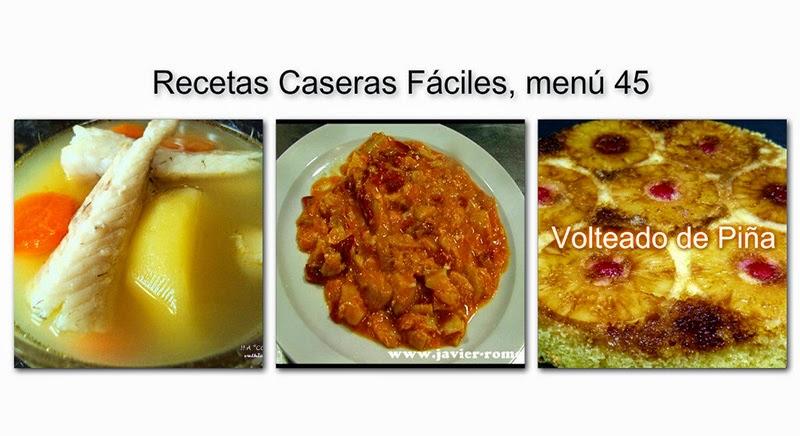 Recetas caseras f ciles men 45 recetas de cocina for Comidas caseras faciles