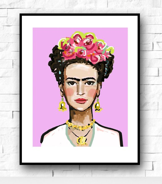 frida kahlo print fun and quirky