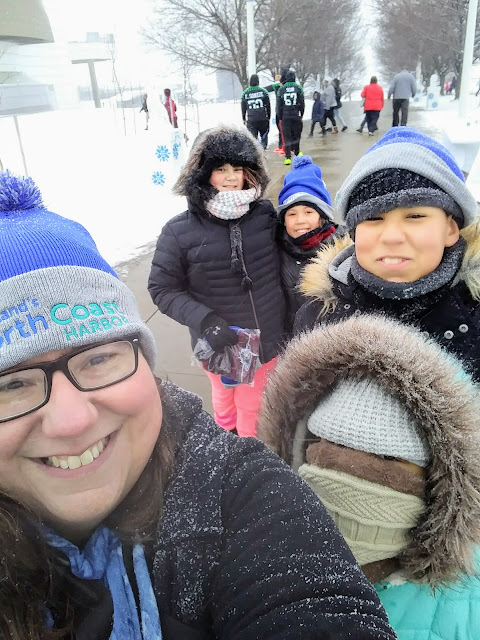 North Coast Harbor Ice Fest selfie