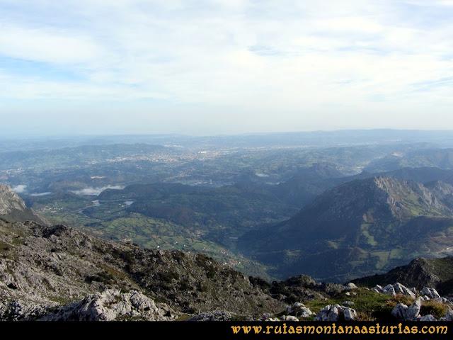 Ruta por el Aramo: Vista desde la Gamonal al centro de Asturias