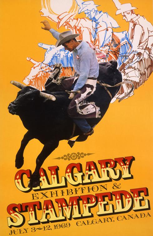 Vintage Calgary Stampede Posters Alberta