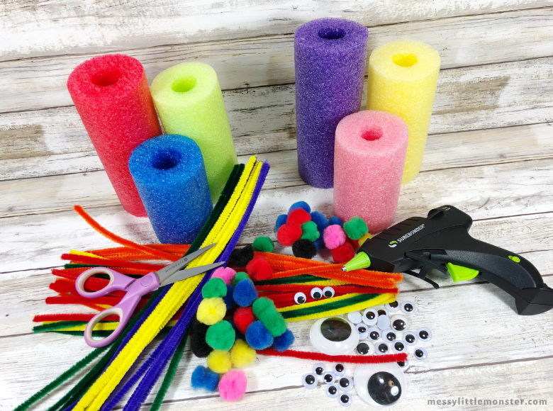 pool noodle monster craft supplies