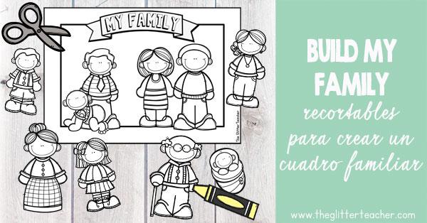 Actividad para crear un cuadro de los miembros de la familia personalizado y celebrar el día de la familia desde el área de inglés en educación primaria.