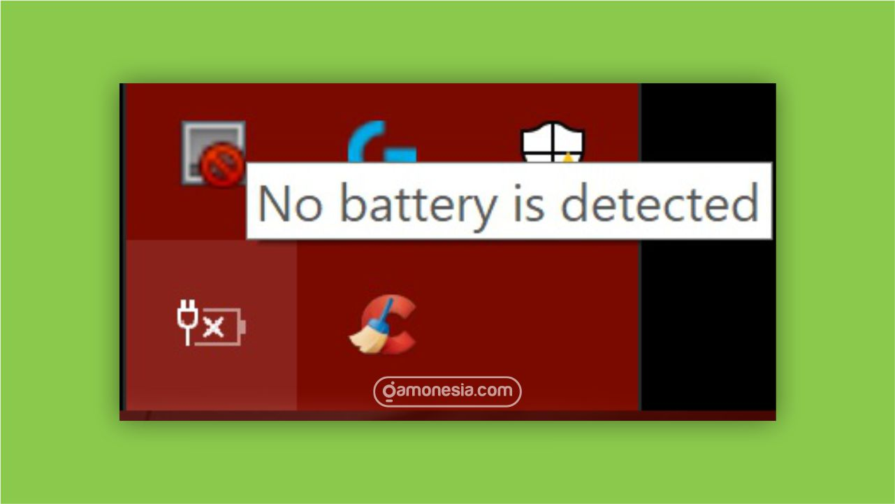 mengatasi no battery is detected di windows
