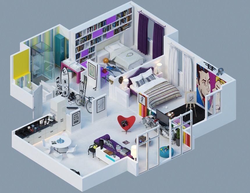 Remarkable One Bedroom House Plans Top 25 Plans Inspirational Interior Design Netriciaus