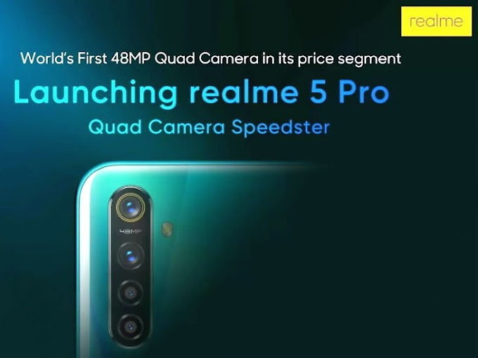 Real me 5 and Real me 5 Pro to launch on August 20, the world's first phone with 4 cameras