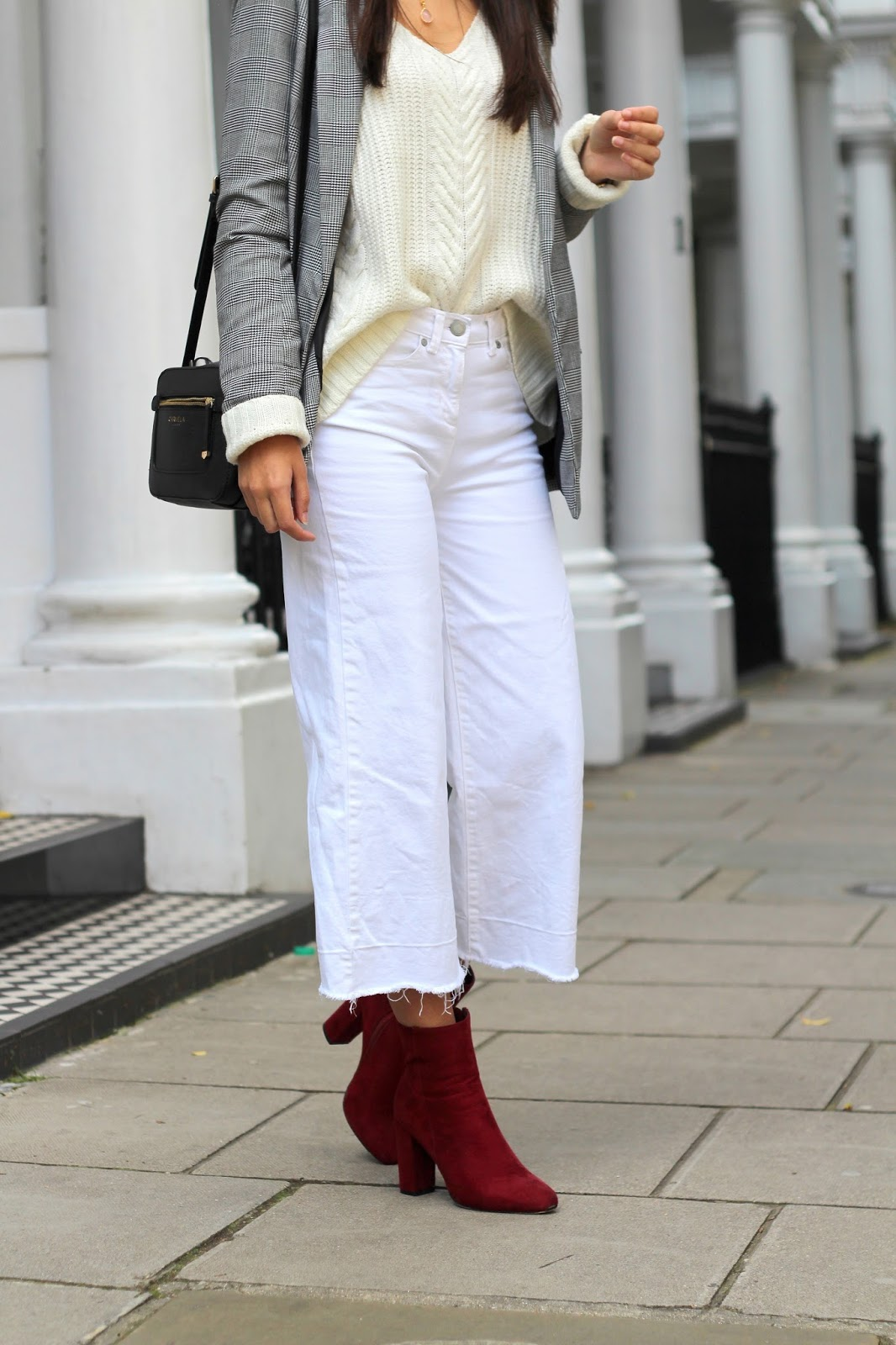 white denim culottes next peexo blogger