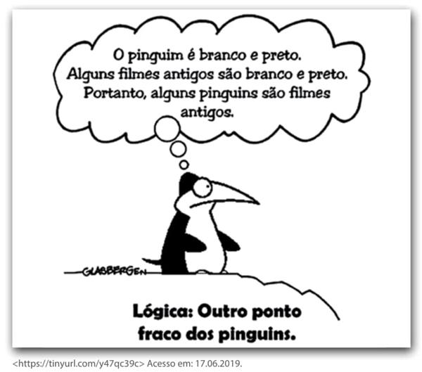 O pinguim é branco e preto. Alguns filmes antigos são branco e preto. Portanto, alguns pinguins são filmes antigos.