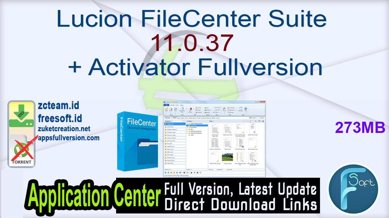 Lucion FileCenter Suite 11.0.37 + Activator Fullversion