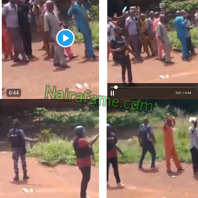 Police Arrested Group Of People Praying Together, Took Them Away To An Unknown Destination In Asata, Enugu. VIDEO