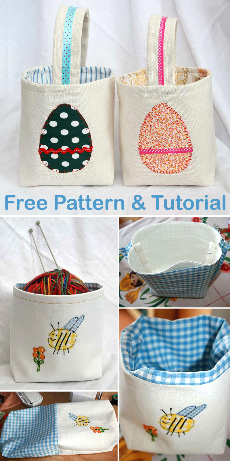 Fabric Basket Free Pattern and Tutorial
